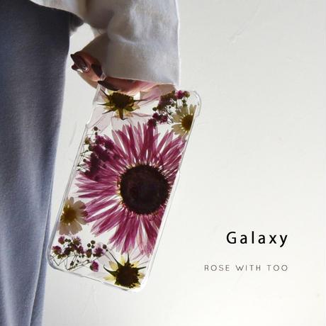 【リング不可】Galaxy /   押し花スマホケース  201021_8