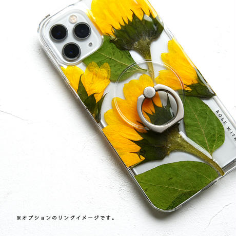 Galaxy /   押し花スマホケース  210707_4