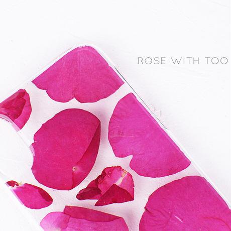 押し花iPhoneケース 1120 Red rose