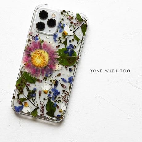 【リング不可】iPhone / 押し花スマホケース 211013_1