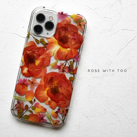 【リング不可】iPhone / 押し花ケース 210901_1