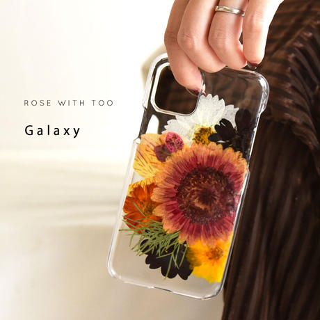 【リング不可】Galaxy /   押し花スマホケース  201007_8