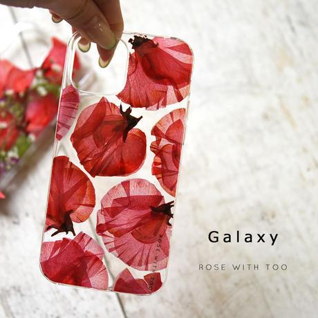 Galaxy /   押し花スマホケース  210310_4