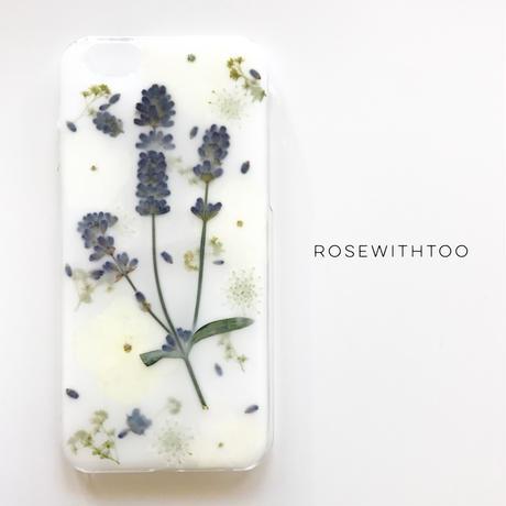 押し花iPhoneケース 0618_1 lavender