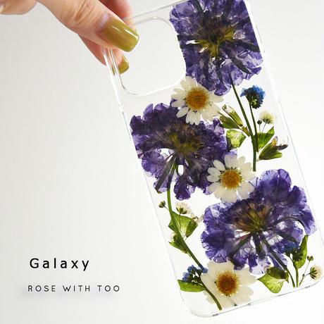 【リング不可】Galaxy /   押し花スマホケース  210414_2