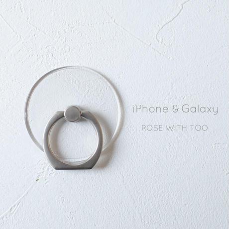 【単品購入不可】iPhone Galaxy /  スマホリング 【ケースに付けるオプション】