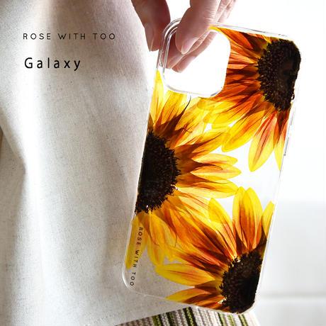 【リング不可】Galaxy /   押し花スマホケース  210721_2