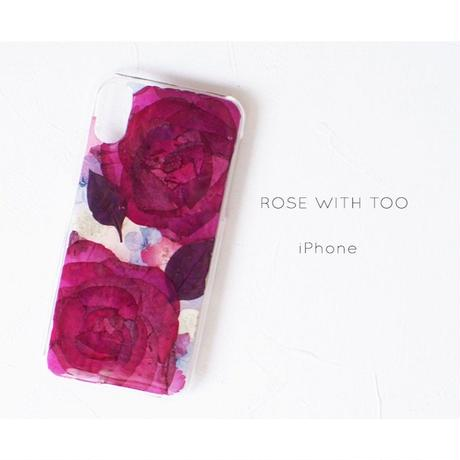 iPhone / 押し花ケース 20191120_3 ROSE LINE