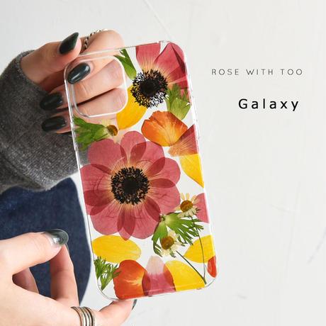 Galaxy /   押し花スマホケース  210203_2