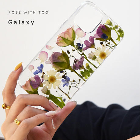 Galaxy /   押し花スマホケース  210922_2