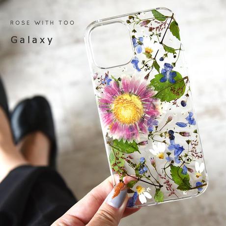 【リング不可】Galaxy /   押し花スマホケース  211013_2