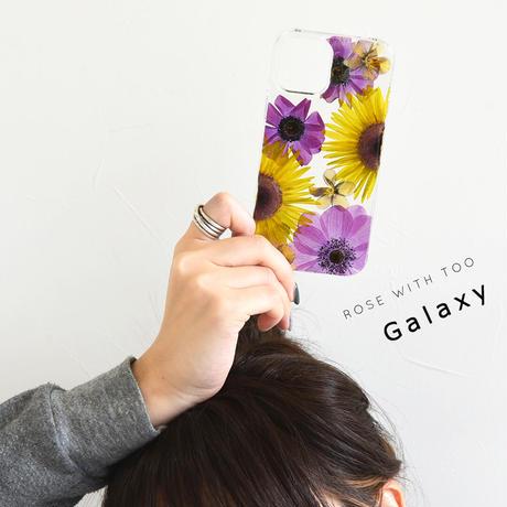 【リング不可】Galaxy /   押し花スマホケース  210203_6