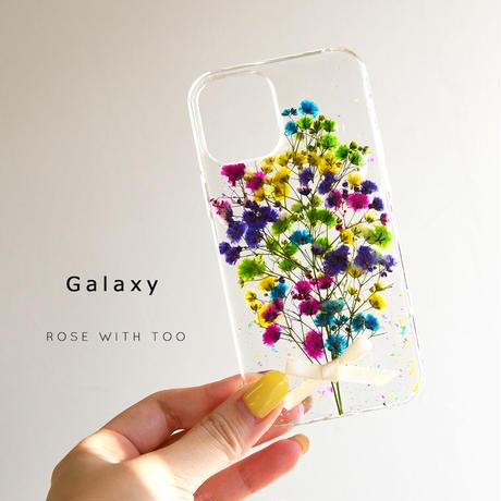 Galaxy /   押し花スマホケース  200729_6