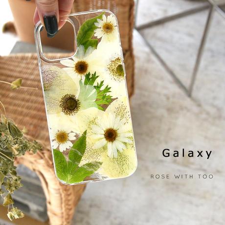 Galaxy /   押し花スマホケース  210203_4
