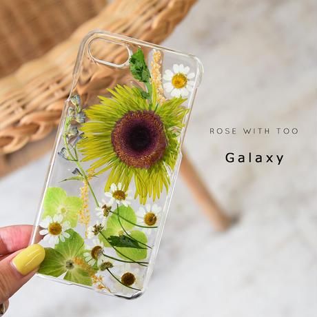 【リング不可】Galaxy /   押し花スマホケース  201125_1
