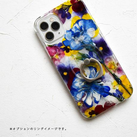Galaxy /   押し花スマホケース  210616_4