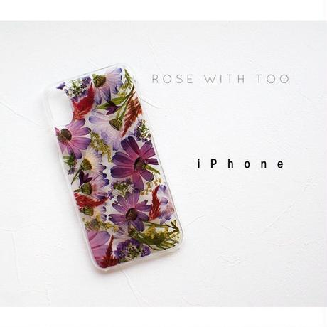 iPhone /  押し花ケース20190717_2