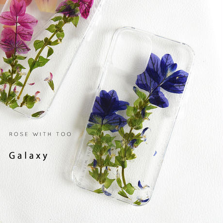 Galaxy /   押し花スマホケース  210120_6