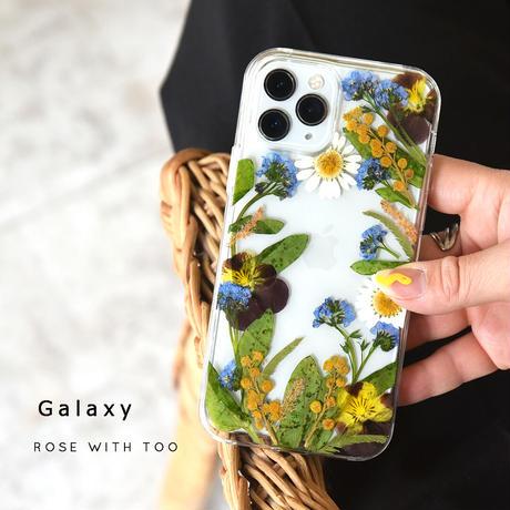 Galaxy /   押し花スマホケース  210414_4