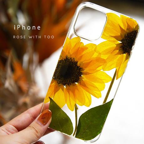【リング不可】iPhone / 押し花ケース 210707_1