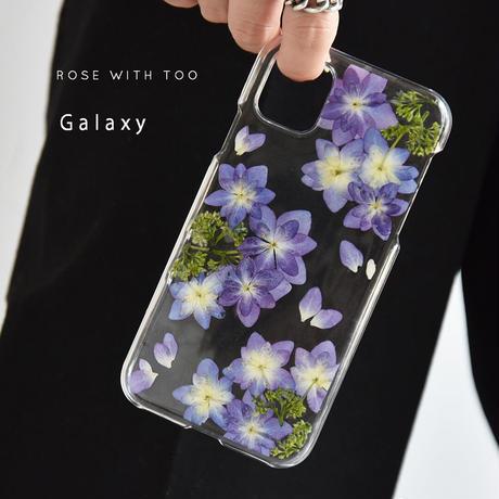 Galaxy /   押し花スマホケース  210623_4