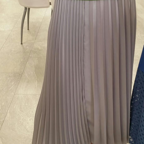 Rosiee シャイニープリーツスカートsilver