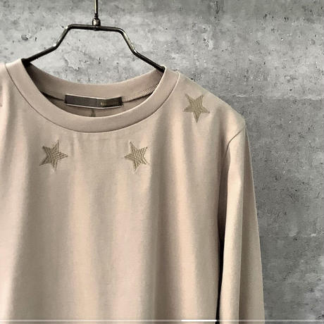 星刺繍フライスロンT