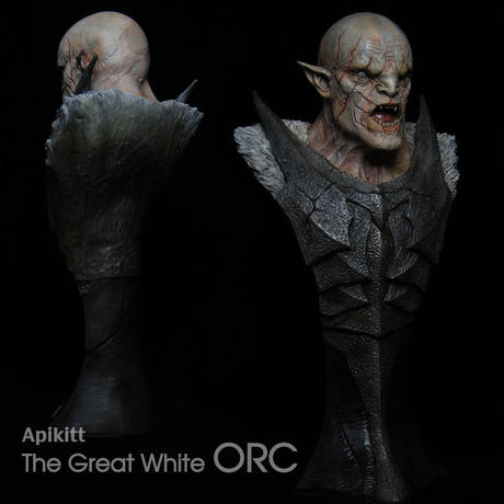 The Great White Orc Bust 完成品