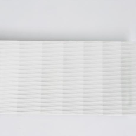 陶切子 長角皿 ホワイト