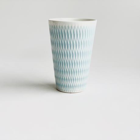 陶切子 フリーカップ パステルブルー