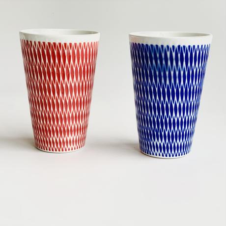 陶切子 フリーカップ レッド