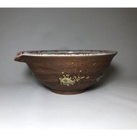 焼〆渕地紋 片口すり鉢 小