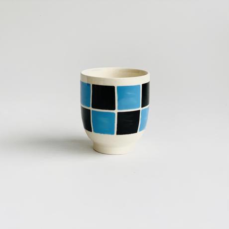 黒市松 ミニ茶付 ブルー