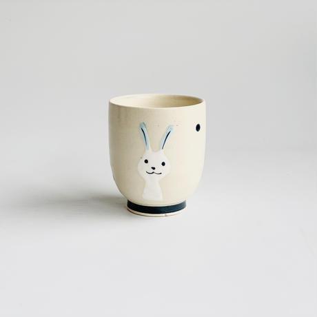 ミニコップ 青ウサギ