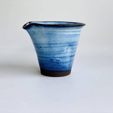 ブルー釉 手造り細ぐい吞み