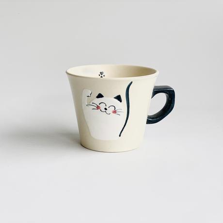 ミニマグ 笑いネコ 青