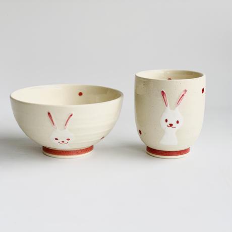 ミニ茶付 赤ウサギ