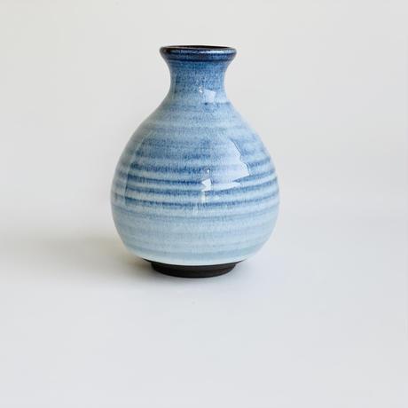 ブルー釉 手造り丸徳利