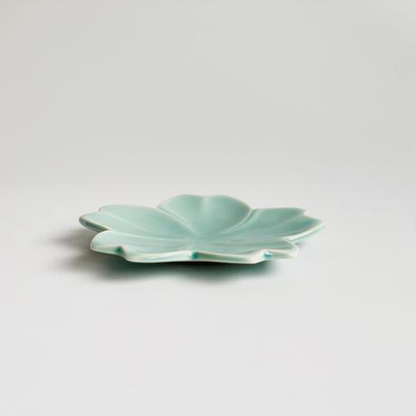 桜型小皿 青磁