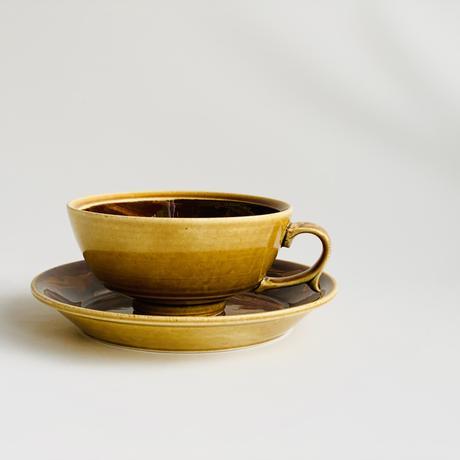 マーブル ブラウン スープカップ
