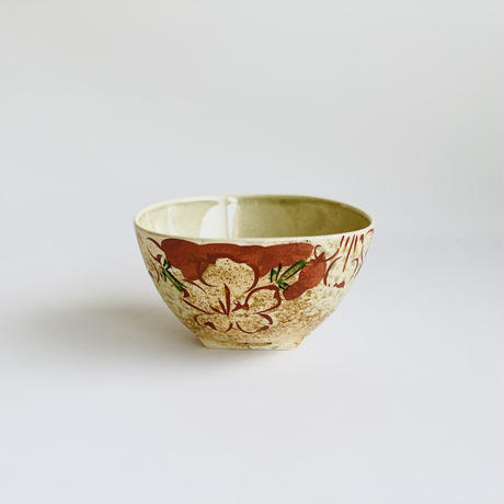 内ビードロ渕桜 赤 三角茶付小