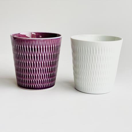陶切子 ロックカップ ホワイト