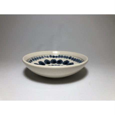 ドットライン  豆鉢 青
