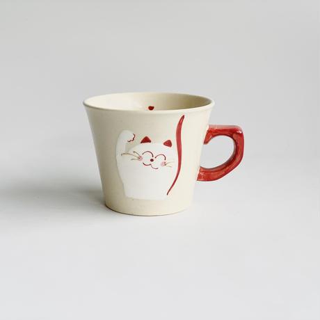 ミニマグ 笑いネコ 赤