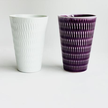 陶切子 フリーカップ パープル