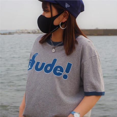 "BeachBum Tシャツ ""dude!"" Color:グレー×デニム"