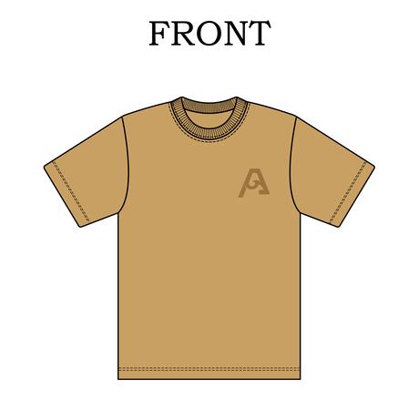 "SURFAHOLIC Tシャツ ""Vertical Line"" Color:サンドカーキ"