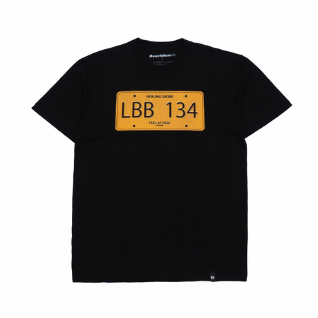 "BeachBum Tシャツ ""LicensePlate"" Color:ブラック"