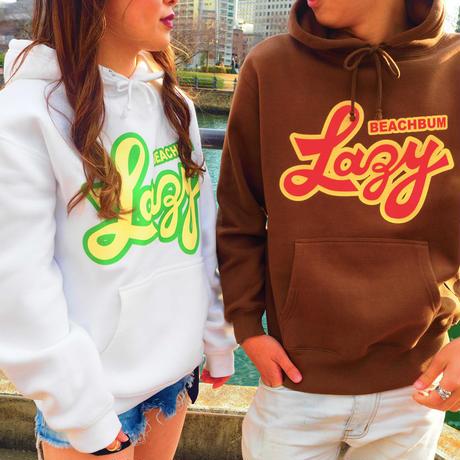 "BeachBum プルオーバーフーディ ""LAZY"" Color:ブラウン"