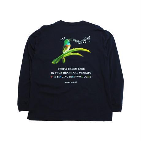 "BeachBum ロンT  ""SINGING BIRD"" Color:Navy"